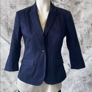 Mexx Navy cropped suit jacket, 3/4 sleeves size 6